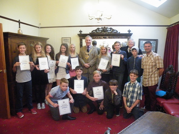 Youth presented with National Award by Mayor of Clitheroe