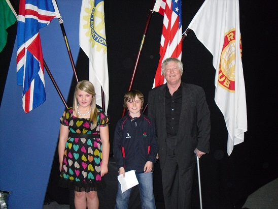 National Rotarian Award Morgan, Harry and Mel Diack MBE