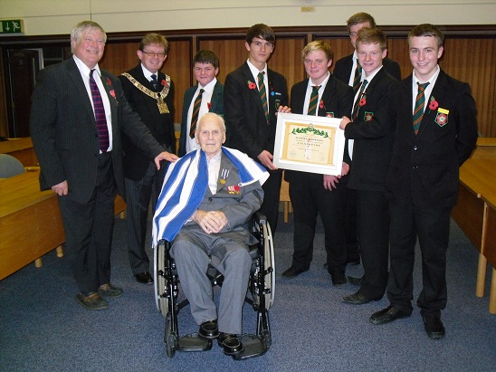 Sam with his Greek medal and forum members